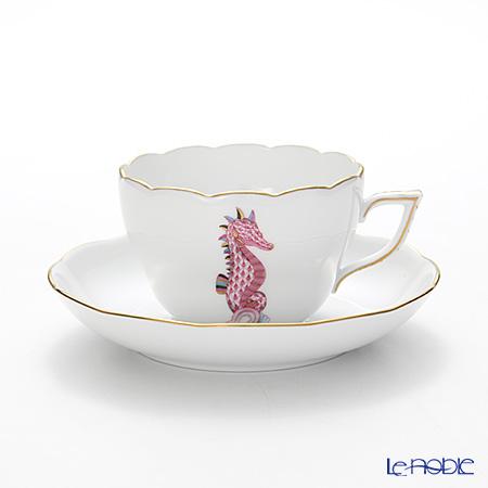 ヘレンド マリンライフ MEVHS4 20730-0-00 ティーカップ&ソーサー(兼用) 200cc シーホース/ピンク