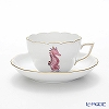 Herend marine life MEVHS4 20730-0-00 Is a seahorse Pink Tea Cup & Saucer (combined) 200 cc