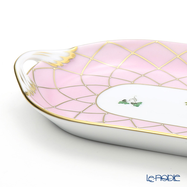 Herend 'Memorial Rose' Pink VRH-MFP 02437-0-00 Oval Tray 23.5x12cm