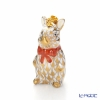 Herend 'Gold Fish scale / Vieux Herend' VHORC 15624-0-47 Standing Bunny (Rabbit) Pendant Top H3.7cm