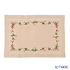 Viet Nam embroidered napkins NM861 Christmas Ivy (Beige) 33 x 48 cm