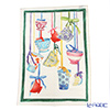Tessitura Toscana Telerie, kitchen towel linen 100% Green brick black 50 x 70 cm
