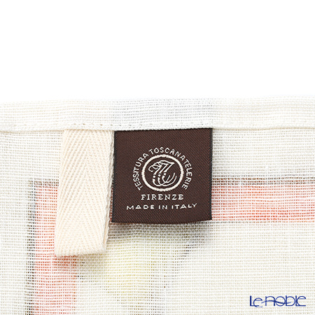Tessitura Toscana Telerie社 キッチンタオル リネン100%クリスタル レッド 50×70cm