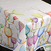 Tessitura Toscana Telerie, tablecloth linens 100% Crystal TQ08 170 x 170 cm