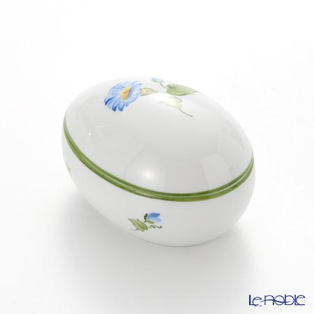 Augarten Viennese Flowers Egg Shape Box, calystegia 5089E/606