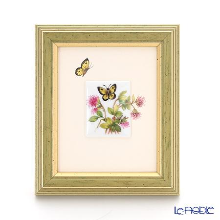 ヘレンド MID-4 08193-0-00 陶板(花と蝶) ピンク 4.5×3.5cm