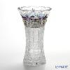 ボヘミア ブルーラスター ハイエナメルベース(花瓶) 25.5cm
