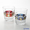 Bohemia Crystal 'Luster High Enamel' Red & Blue Old Fashioned Glass 210ml (set of 2)