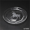 Bohemia Crystal 'Walking Horse (Gravure)' Plate 19cm
