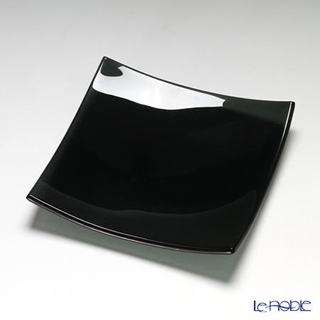 モダンボヘミア スクエアプレートブラック 20×20cm