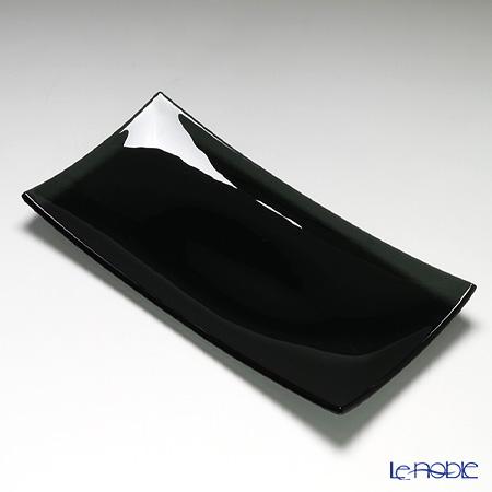 モダンボヘミア 長方形プレート 32×16cm ブラック