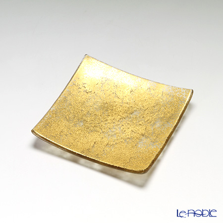 モダンボヘミア スクエアプレート 16×16cm ゴールド
