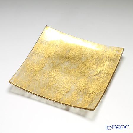 モダンボヘミア スクエアプレート 26×26cm ゴールド