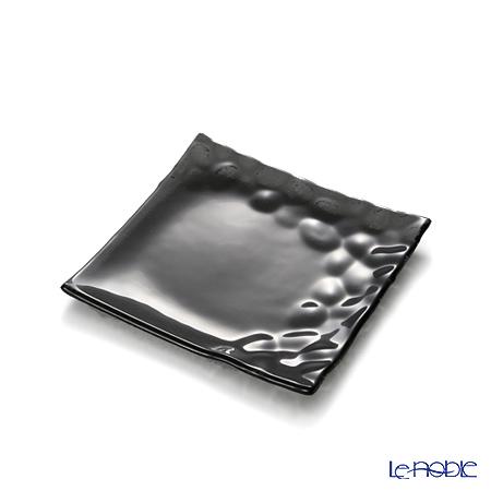 モダンボヘミア カメン スクエアプレートブラック 14.5×14.5cm