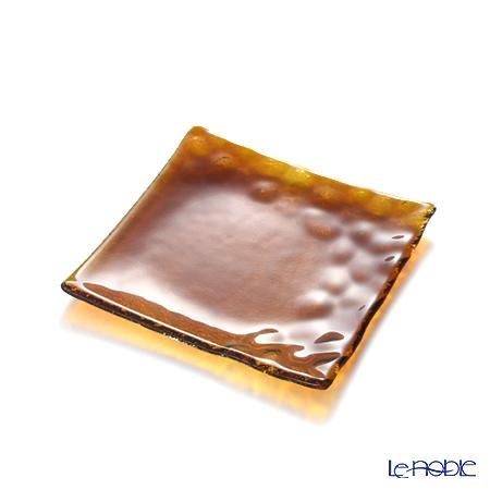 Modern Bohemia 'Kamen' Topaz Yellow Square Plate 14.5x14.5cm