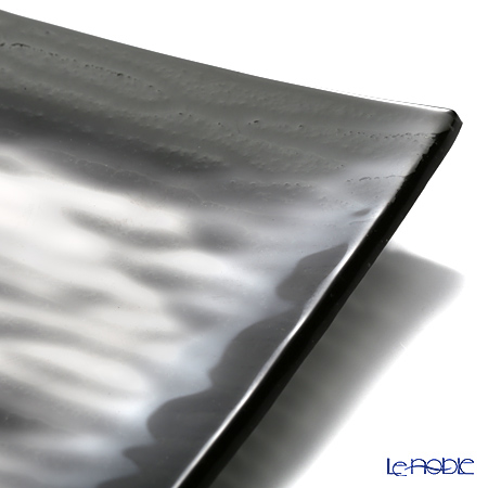 Modern Bohemia 'Snail' Black Square Plate 14.5x14.5cm