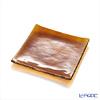 Modern Bohemian snail square plate Topaz 14.5 x 14.5 cm/6