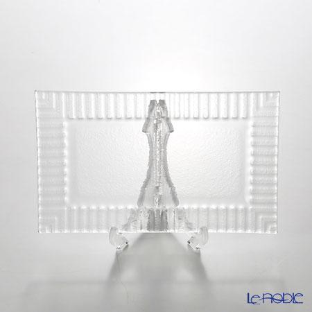 Modern Bohemian Cubs long rectangular plates Extra clear 21.3 x 12.8 cm