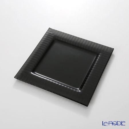 モダンボヘミア クビス スクエアプレートブラック 19.5×19.5cm