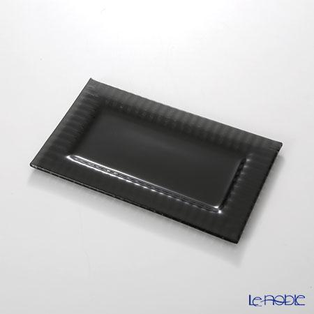 モダンボヘミア クビス 長方形プレートブラック 21.3×12.8cm