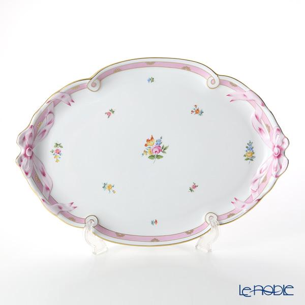 ヘレンド ローズチューリップ ピンク RTFP 20400-0-00 パーティートレイ 38cm