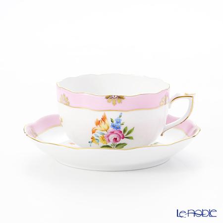 ヘレンド ローズチューリップ ピンク RTFP 20724-0-00 ティーカップ&ソーサー 200cc