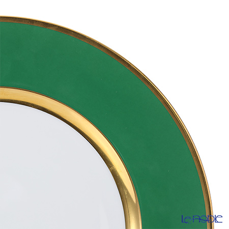 アウガルテン(AUGARTEN) エメラルドグリーン(6725E) ゴールドリムチャージャープレート 28cm(001)