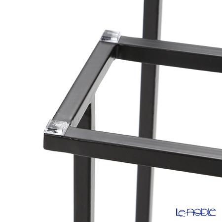 Modern Bohemia 'Display' Black 3 Tier Shelf Board & Stand 70x18xH35cm