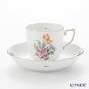 Herend Saxon Bouquet / Bouquet de Saxe BS-6 00707-0-00 Mocha Cup & Saucer 150ml