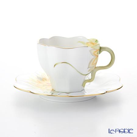 ヘレンド ダリア DAHLIA4 04740-0-00 ティーカップ&ソーサー 200cc(イエロー)