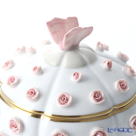 ヘレンド C-P1 06266-0-17ローズボンボン入れ 蝶(ピンク)