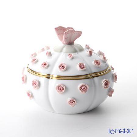 ヘレンド C-P1 06266-0-17 ローズボンボン入れ 蝶(ピンク)