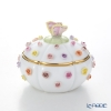 Herend C-P1 06266-0-17 Multicolor Round Bonbonniere with Roses (Butterfly) H11cm