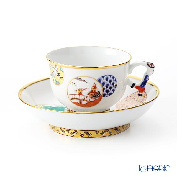 ヘレンド 昔話 CON 03364-0-21 ラージカップ&ソーサー