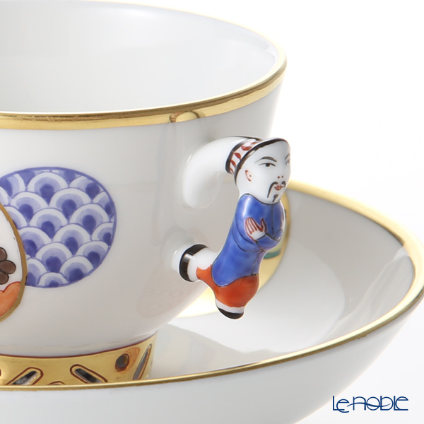 Herend 'Tales' CON 03371-021 Small Cup & Saucer (Mandarin handle / openwork) 100ml