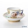 Herend Tales CON 03371-021 Mocha Cup & Saucer (Mandarin handle / openwork) 100ml
