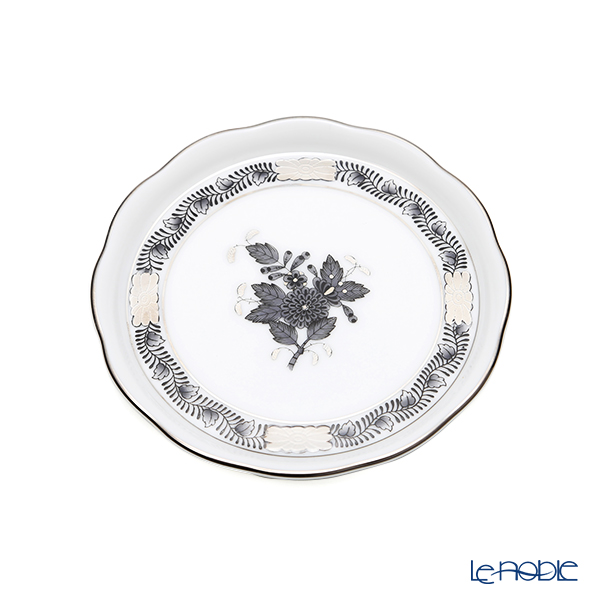 ヘレンド アポニーブラックプラチナ ANG-PT プレート 10cm/小皿/豆皿 00341-0-00