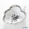 Herend Chinese Bouquet Black Platinum / Apponyi ANG-PT 00492-0-00 Sugar Bowl (Leaf shape) 10.5cm