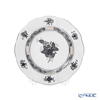 Herend 'Chinese Bouquet Black / Apponyi' Platinum ANG-PT 00512-0-00 Plate 12.5cm