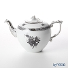Herend Apponyi / Chinese Bouquet ANG-PT 00606-0-09 Black Platinum Tea Pot (Rose) 800ml