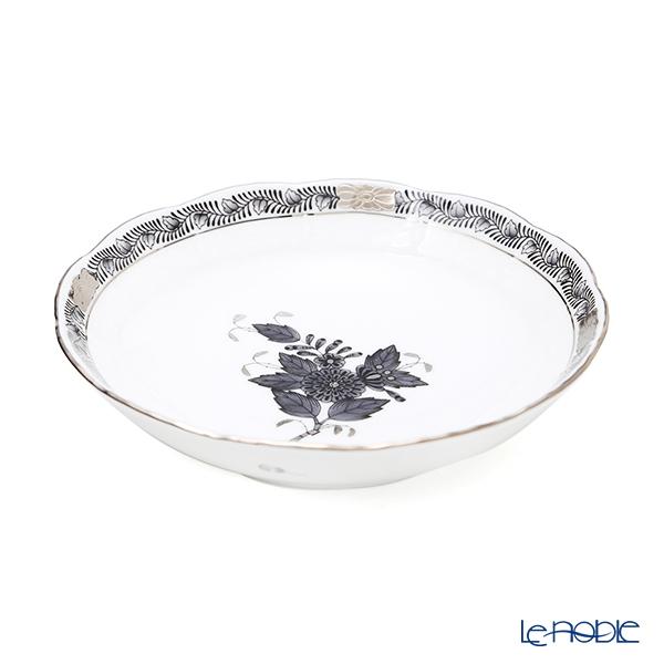 ヘレンド アポニーブラックプラチナ ANG-PT フルーツボウル 13.5cm/00704-1-00
