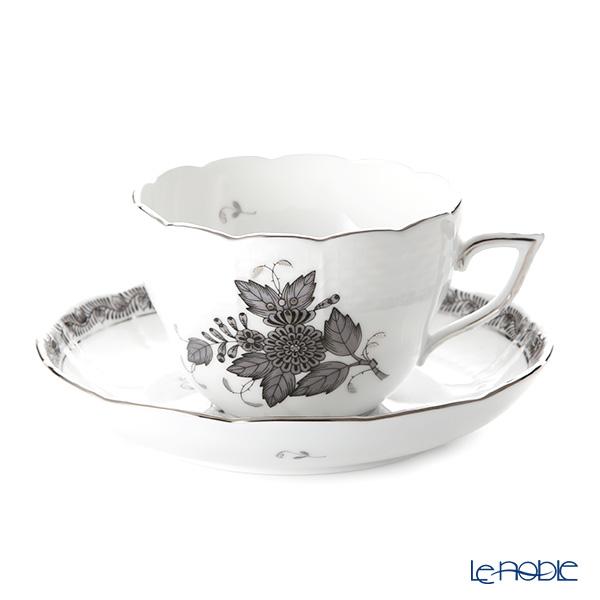 ヘレンド アポニーブラックプラチナ 00730-0-00 ティーカップ&ソーサー(兼用) 200cc