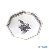 Herend 'Chinese Bouquet Black / Apponyi' Platinum ANG-PT 04307-1-00 Octagonal Plate / Small Dish 11cm