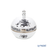 Herend 'Chinese Bouquet Black / Apponyi' Platinum ANG-PT 06033-0-21 Round Box (Mandarin knob) 8cm