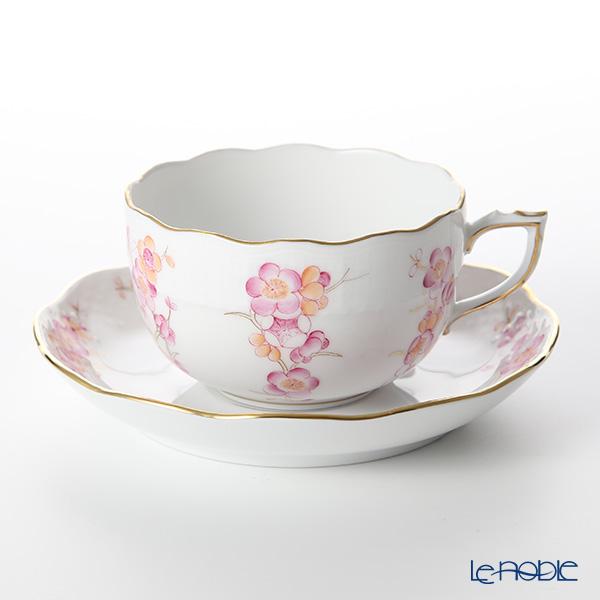 ヘレンド FKT-1 00724-0-00ティーカップ&ソーサー(ピンク) 200cc