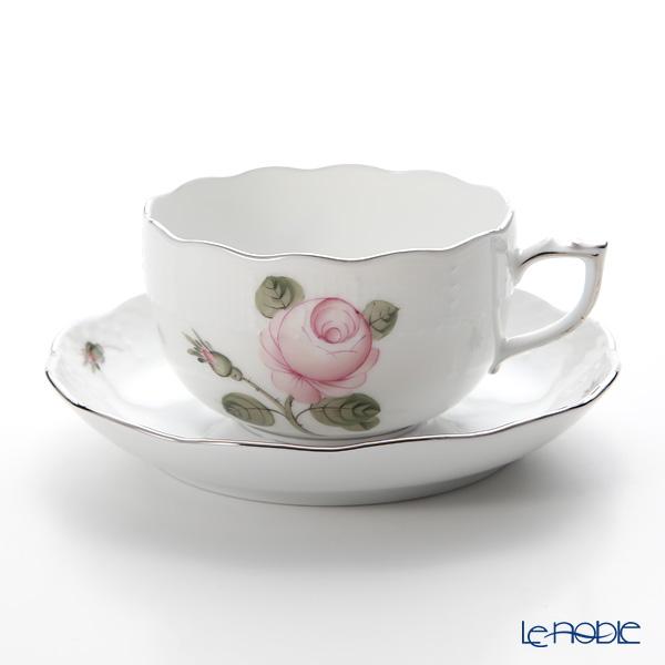 ヘレンド ウィーンのバラ プラチナ 00724-0-00 ティーカップ&ソーサー 200cc