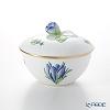 Herend 'Herb Garden (In-glaze) / Jardin Des Herbes' JDH Covered Sugar Pot (Flower Bud knob) 200ml