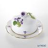 Herend 'Sisi Violet' Gold VIOLET 00394-0-09 Petit Beurrie / Covered Butter Dish (Rose knob) 12cm