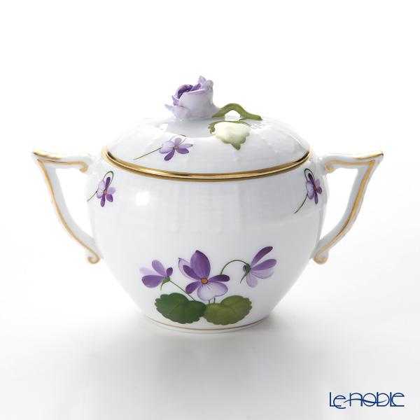 Herend 'Sisi Violet' Gold VIOLET 00472-0-09 Covered Sugar Pot (Rose knob) 200ml