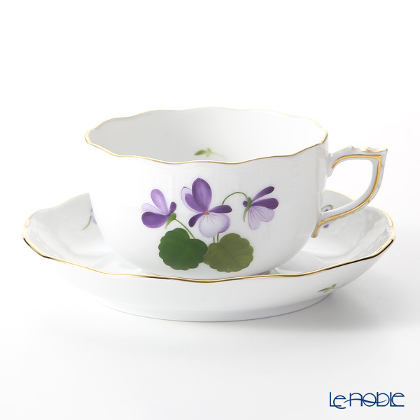 Herend 'Sisi Violet' Gold VIOLET 00724-0-00 Tea Cup & Saucer 200ml